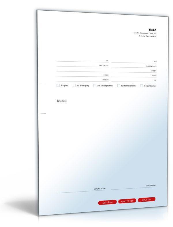 Faxvorlage (professionell) 1