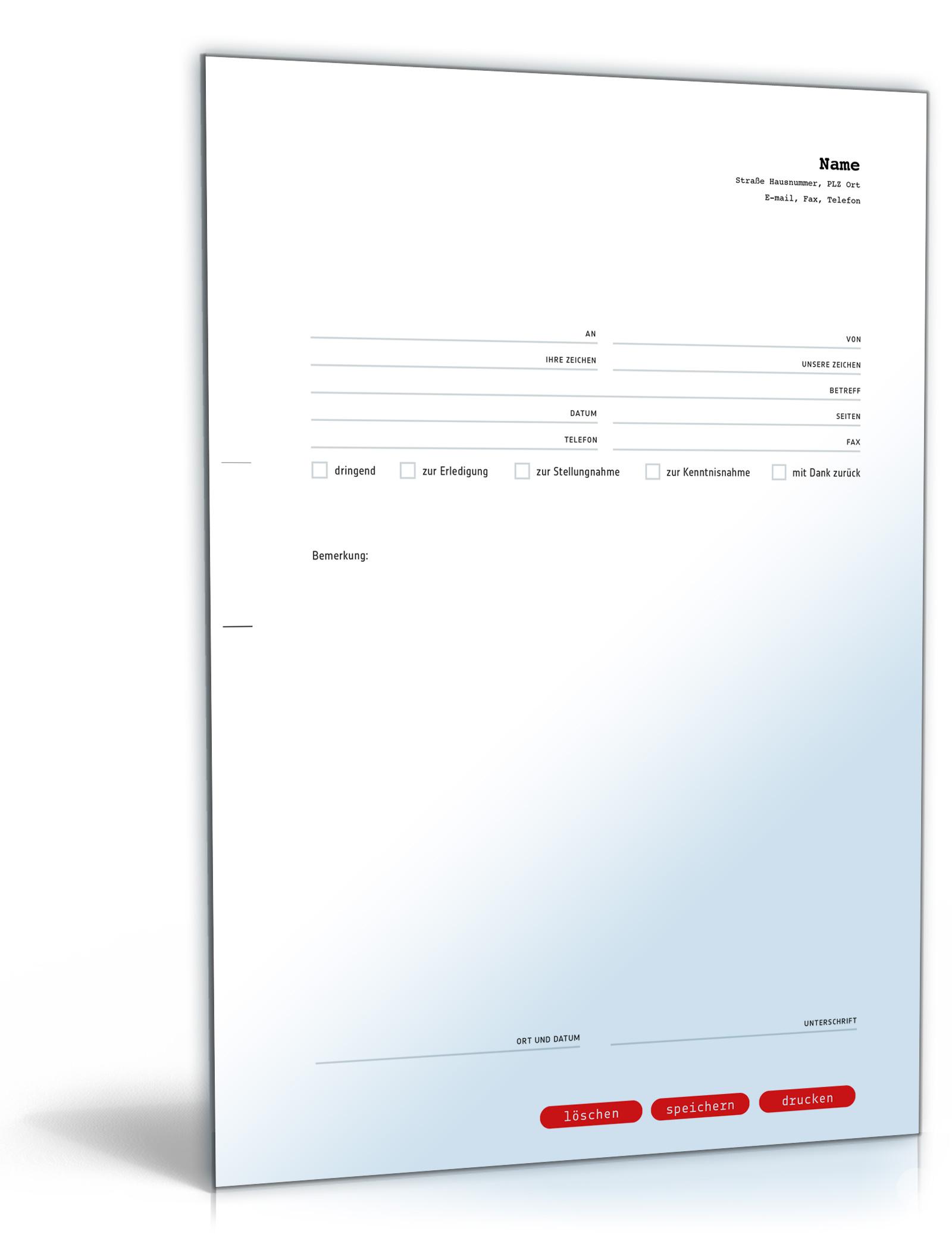 Faxvorlage (professionell)