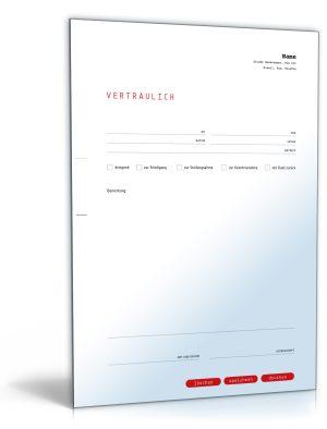 Faxvorlage (vertraulich)