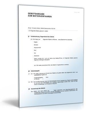 Gebotsabgabe im Bieterverfahren im Immobilienbereich
