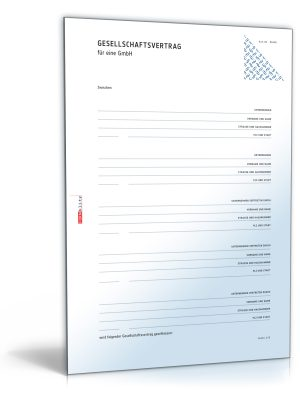 GmbH-Gesellschaftsvertrag