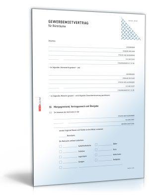 Gewerbemietvertrag (Büroräume)