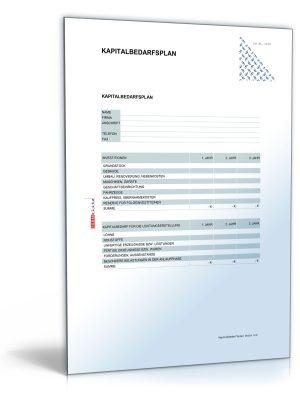 Kapitalbedarfsplan für Existenzgründer