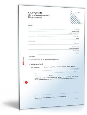 Kaufvertrag über Wohnungseinrichtung (Abstandsregelung/Ablösevereinbarung)