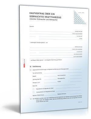 Allgemeiner Kfz-Kaufvertrag (für Privatverkauf)