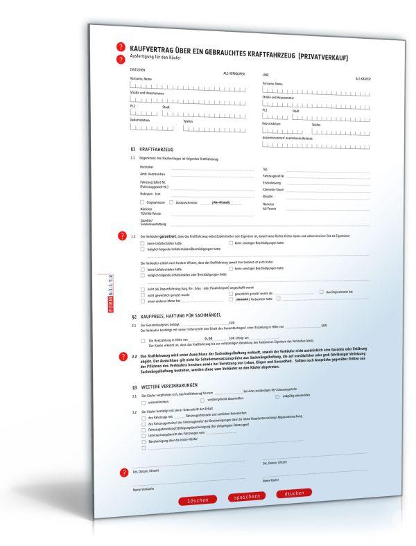 Kfz-Kaufvertrag (Privatkauf) 1