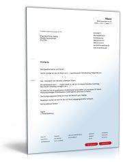 Kündigung Arbeitsvertrag (fristgemäß, Arbeitnehmer)