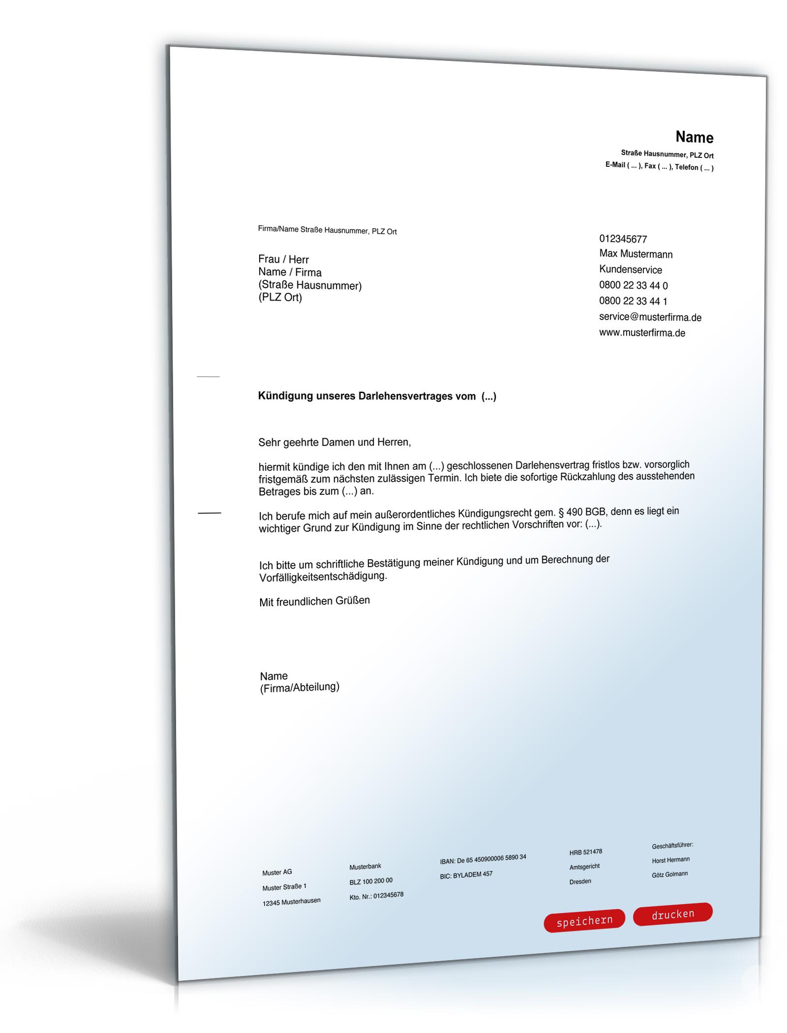 Exelent Darlehensvertrag Vorlage Wort Elaboration - FORTSETZUNG ...