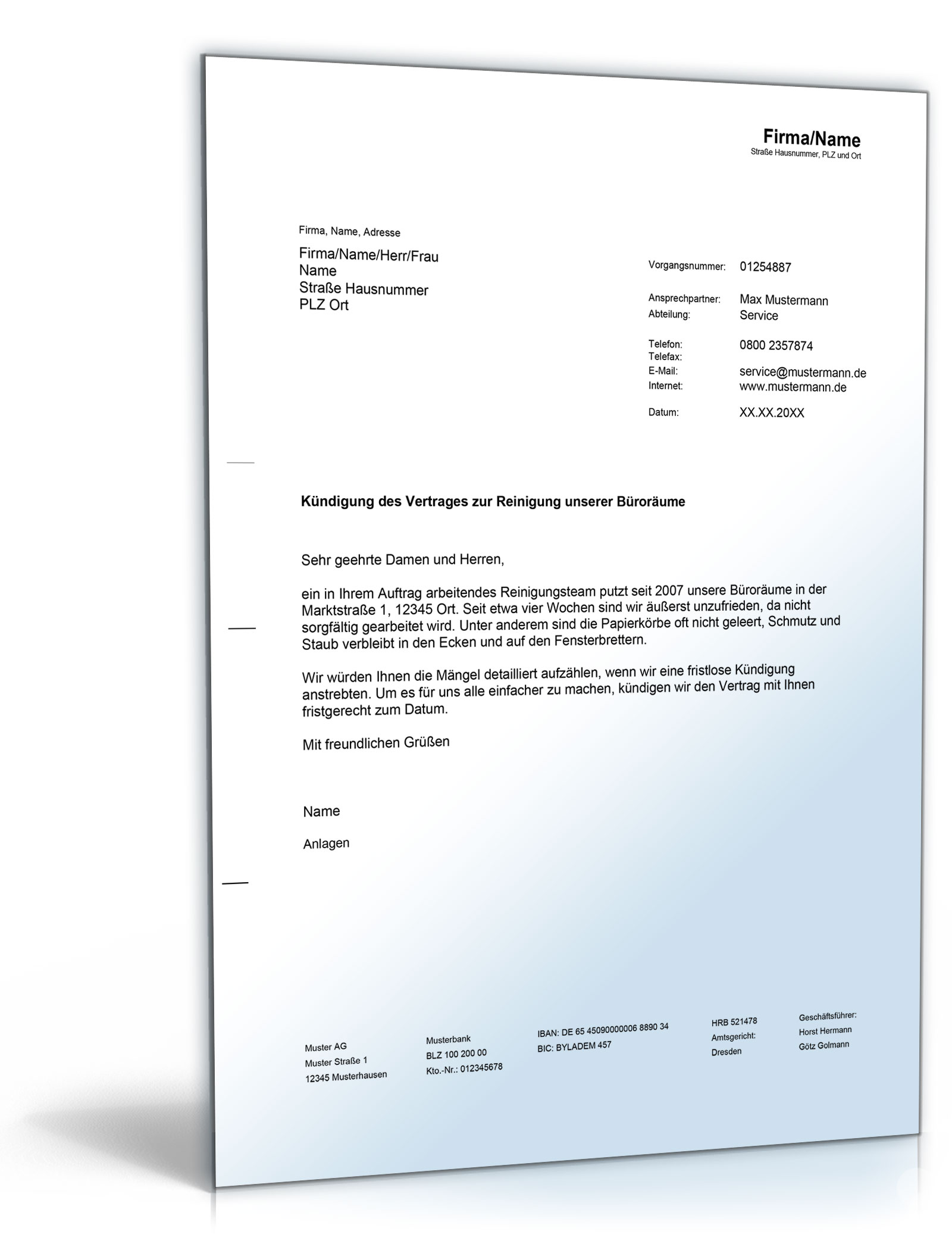 Gemütlich Kündigung Des Einstellungsformulars Galerie - Entry Level ...