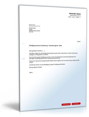 Kündigung einer Reiseschutzversicherung (fristgemäß)