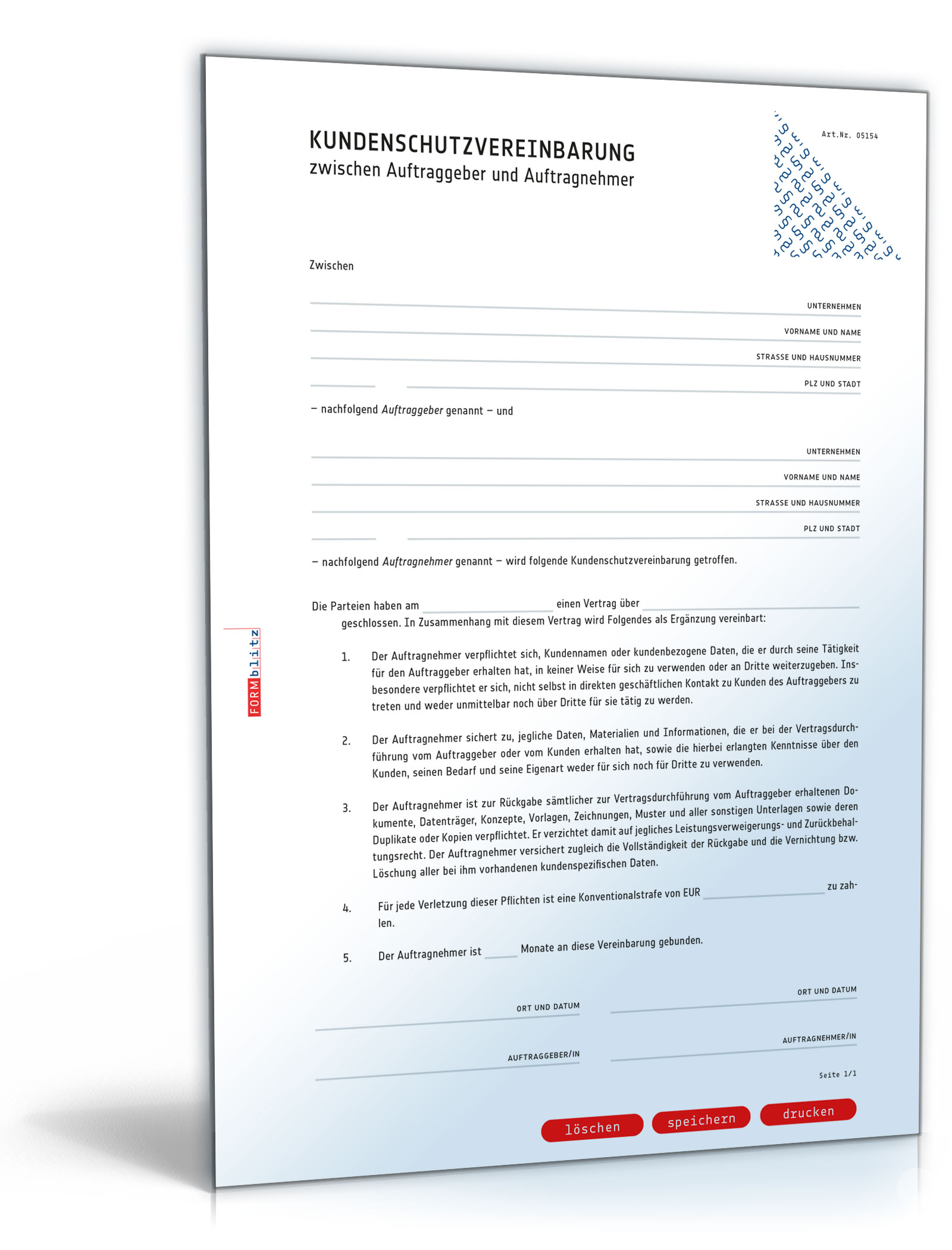 Kundenschutzvereinbarung