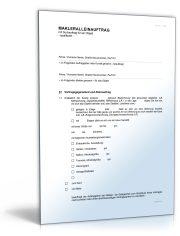 Makleralleinauftrag (qualifiziert) mit Suchauftrag für Objekt