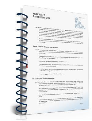 Merkblatt Batteriegesetz mit Muster-Hinweis