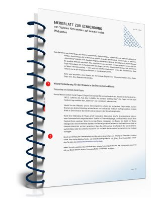 Merkblatt: Einbindung von Sozialen Netzwerke auf kommerziellen Webseiten