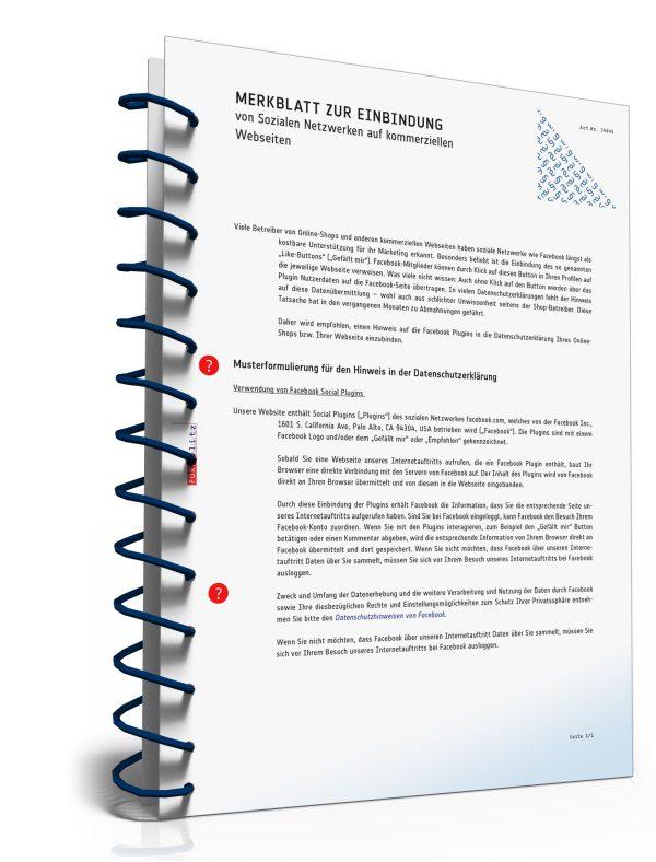 Merkblatt: Einbindung von Sozialen Netzwerke auf kommerziellen Webseiten 1