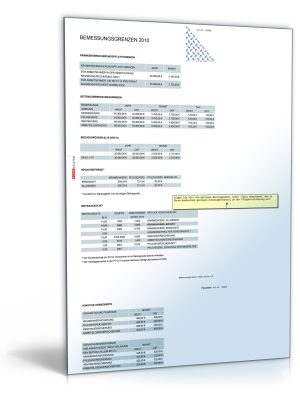 FORMBLITZ-Tabelle 2009/2010 - Sammlung diverser Pauschalsätze
