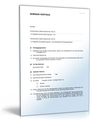 Seminarvertrag (mehrere Tage)