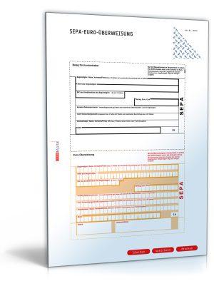 Bankformular EU-Standardüberweisung