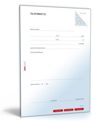 Gesprächsnotiz für ein Telefonat (Telefonnotiz)