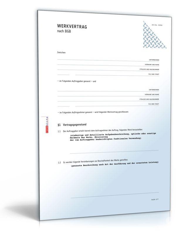 Werkvertrag (allgemein) 1