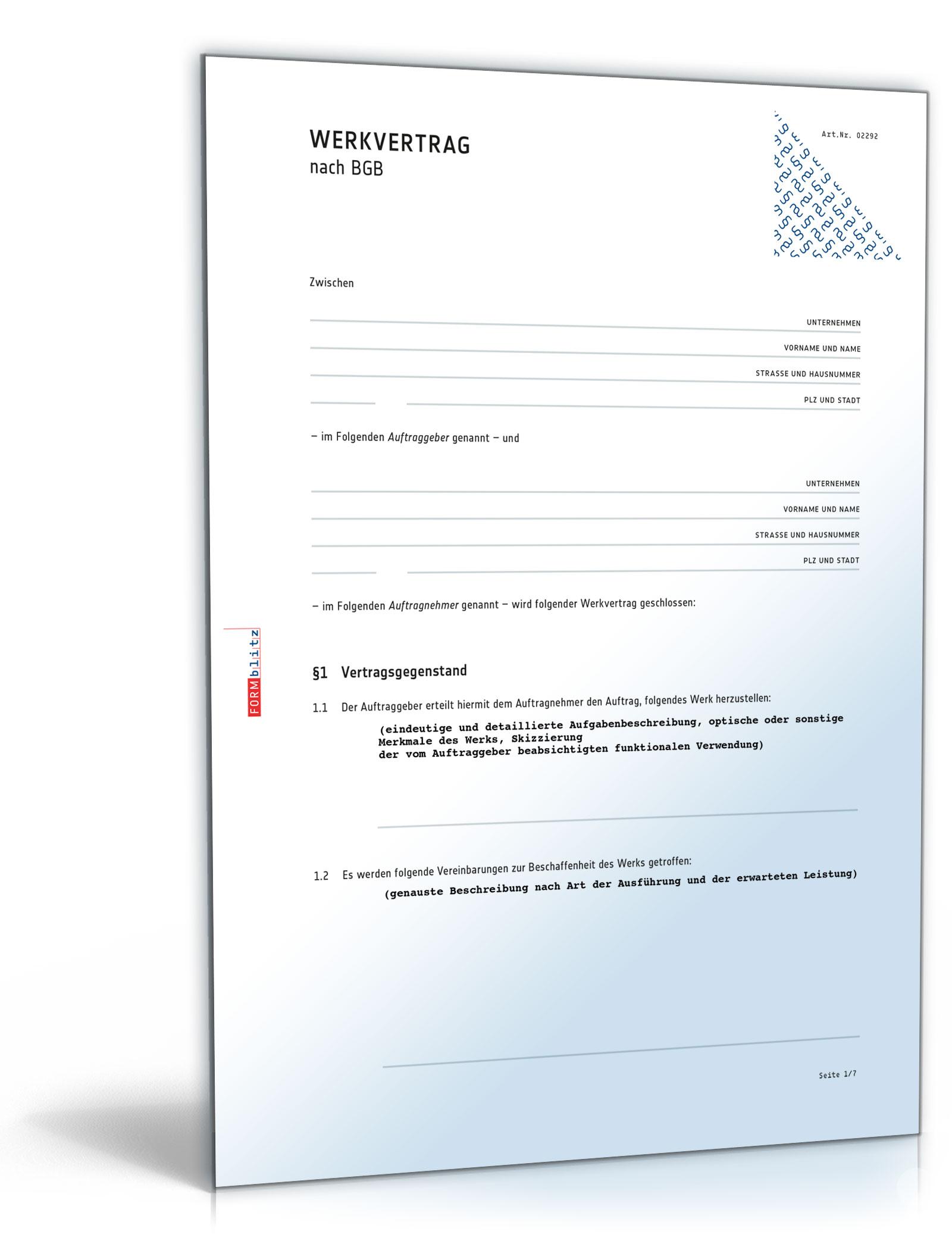 Werkvertrag (allgemein)