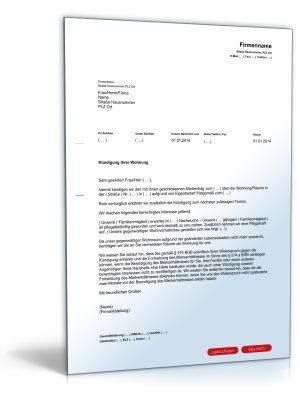 Kündigung Mietvertrag (Vermieter, Eigenbedarf)