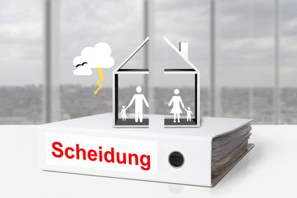 Ordner Scheidung geteiltes Haus Familie Gewitter